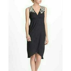 Anthropologie Meadow Rue Embroidered Black Dress